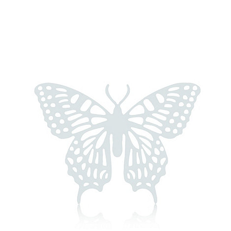 Butterfly Home by Matthew Williamson - Silver cut-out butterfly hanging attachment
