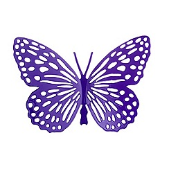 Butterfly Home by Matthew Williamson - Purple cut-out butterfly hanging attachment