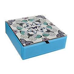 Butterfly Home by Matthew Williamson - Turquoise butterfly print jewellery box