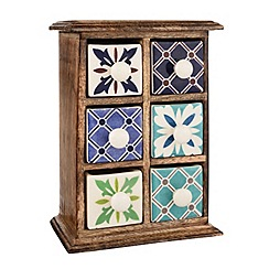 Butterfly Home by Matthew Williamson - Wooden ceramic 6 drawer unit