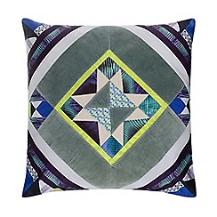 Butterfly Home by Matthew Williamson - Multi-coloured diamond print cushion