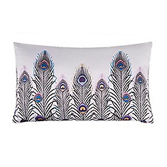 Butterfly Home by Matthew Williamson - Grey peacock print cushion