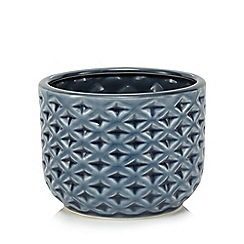 Butterfly Home by Matthew Williamson - Navy ceramic plant pot