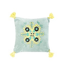 Butterfly Home by Matthew Williamson - Green beaded cushion