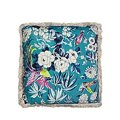 Butterfly Home by Matthew Williamson - Multi-coloured floral print cushion