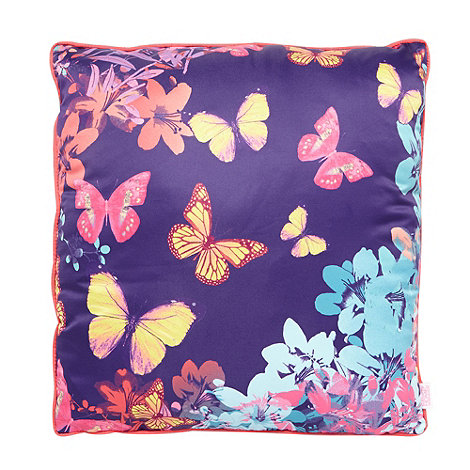 Butterfly Home by Matthew Williamson - Designer purple butterflies cushion
