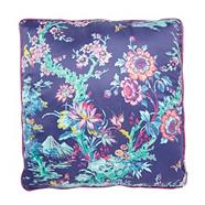 Designer purple floral cushion