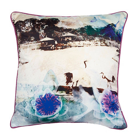 Butterfly Home by Matthew Williamson - Designer aqua bird cushion