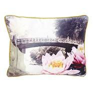 Designer pink Nikko Bridge cushion