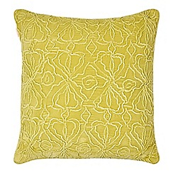 Butterfly Home by Matthew Williamson - Lime velvet cushion