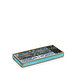 Butterfly Home by Matthew Williamson - Blue glass tinted mandala trinket tray