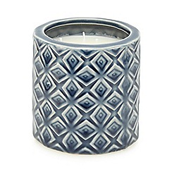 Butterfly Home by Matthew Williamson - Navy textured mimosa scented candle