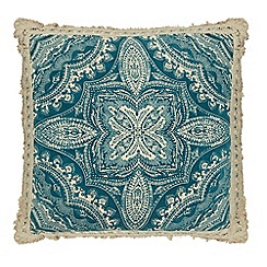 Butterfly Home by Matthew Williamson - Blue mandala print cushion