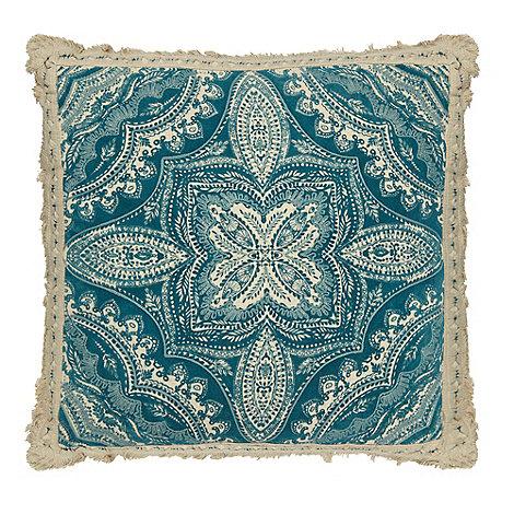 Butterfly Home by Matthew Williamson - Blue mandala print cushion