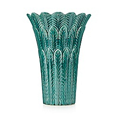 Butterfly Home by Matthew Williamson - Turquoise ceramic vase
