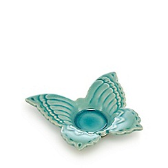 Butterfly Home by Matthew Williamson - Teal butterfly candle holder