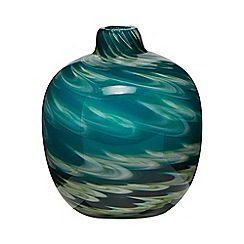 Butterfly Home by Matthew Williamson - Blue and green swirl bud vase