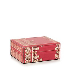 Butterfly Home by Matthew Williamson - Medium pink glass keepsake box