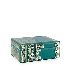 Butterfly Home by Matthew Williamson - Large turquoise glass box
