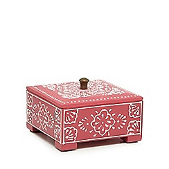 Butterfly Home by Matthew Williamson - Small pink turquoise henna print box