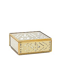 Butterfly Home by Matthew Williamson - Small gold metal trinket box
