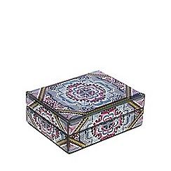 Butterfly Home by Matthew Williamson - Multi-coloured 'Mia' medium glass keepsake box