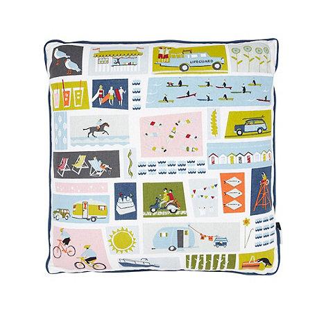 Yukari Sweeney/EDITION - Blue square patterned cushion