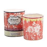 Rose and pomegranate scented votive candle