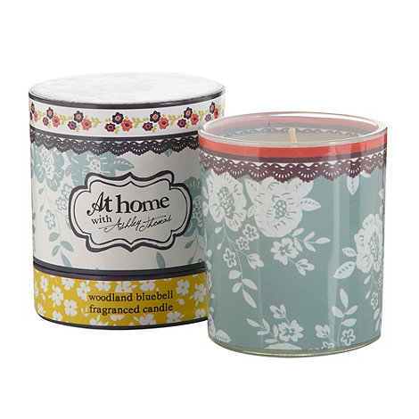At home with Ashley Thomas - Woodland bluebell scented votive candle