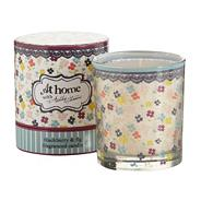 Blackberry and fig scented votive candle