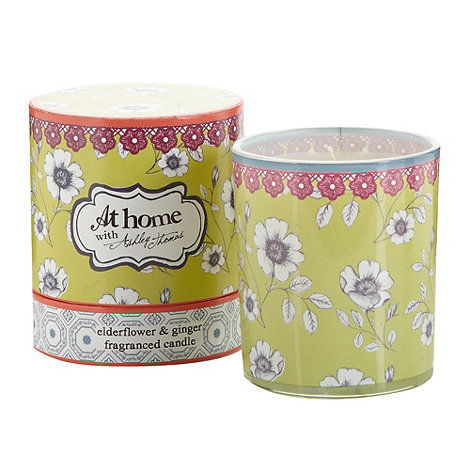 At home with Ashley Thomas - Elderflower and ginger scented votive candle