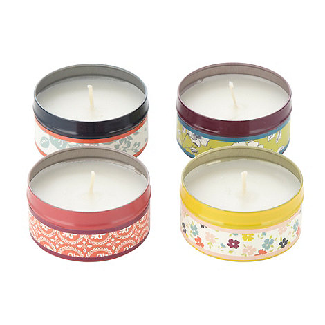 At home with Ashley Thomas - Designer set of four tinned scented candles