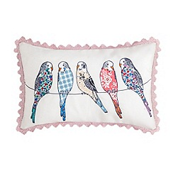 At home with Ashley Thomas - Birds cushion