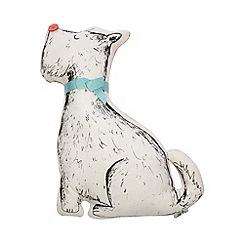 At home with Ashley Thomas - Peach Scotty dog cushion