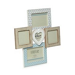 At home with Ashley Thomas - Designer white wooden heart aperture wall photo frame
