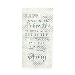 At home with Ashley Thomas - Cream 'Breath Away' wall art