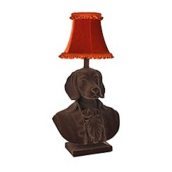 Abigail Ahern/EDITION - Brown flocked beagle lamp