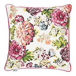 At home with Ashley Thomas - Floral print cushion