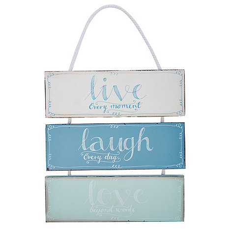 At home with Ashley Thomas - +Live Laugh Love+ hanging sign