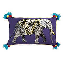 Abigail Ahern/EDITION - Elephant applique cushion