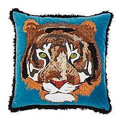 Abigail Ahern/EDITION - Tiger applique cushion
