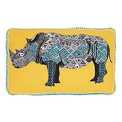 Abigail Ahern/EDITION - Rhino applique cushion