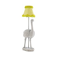 Abigail Ahern/EDITION - Grey ostrich lamp