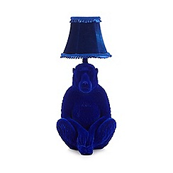 Abigail Ahern/EDITION - Blue velvet baboon table lamp