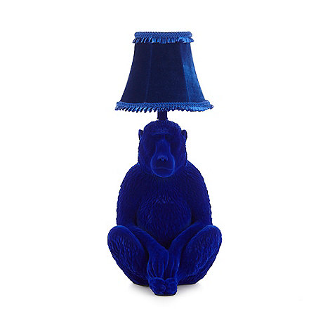 abigail-ahern-edition - Blue velvet baboon table lamp