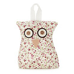 Debenhams - Pink floral owl door stop