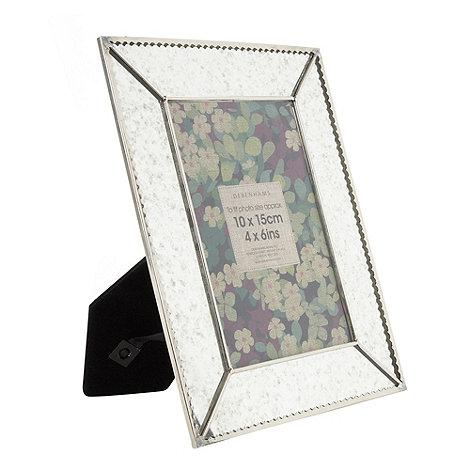 Debenhams - Silver mirrored 10 x 15cm photo frame