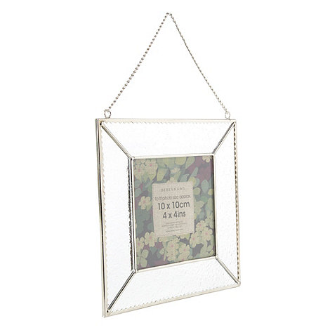 Debenhams - Frosted glass 10 x 10cm photo frame