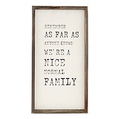Debenhams - Wooden 'Normal Family' wall art