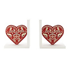 Debenhams - Red animal heart book ends